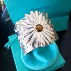 Tiffany and co Daisy Wide cuff Bracelet